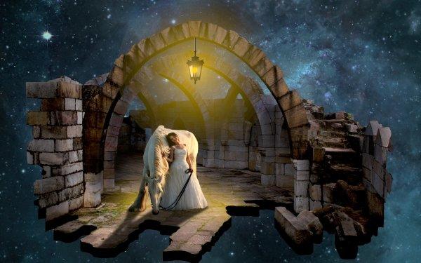 Fantasy Women Horse HD Wallpaper | Background Image