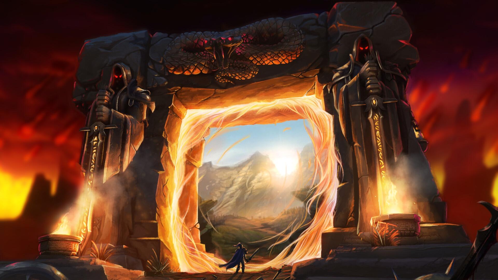 Through the Dark Portal HD Wallpaper   Hintergrund ...