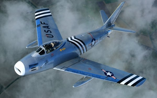 Military North American F-86 Sabre Jet Fighters Jet Fighter Aircraft Warplane HD Wallpaper | Background Image