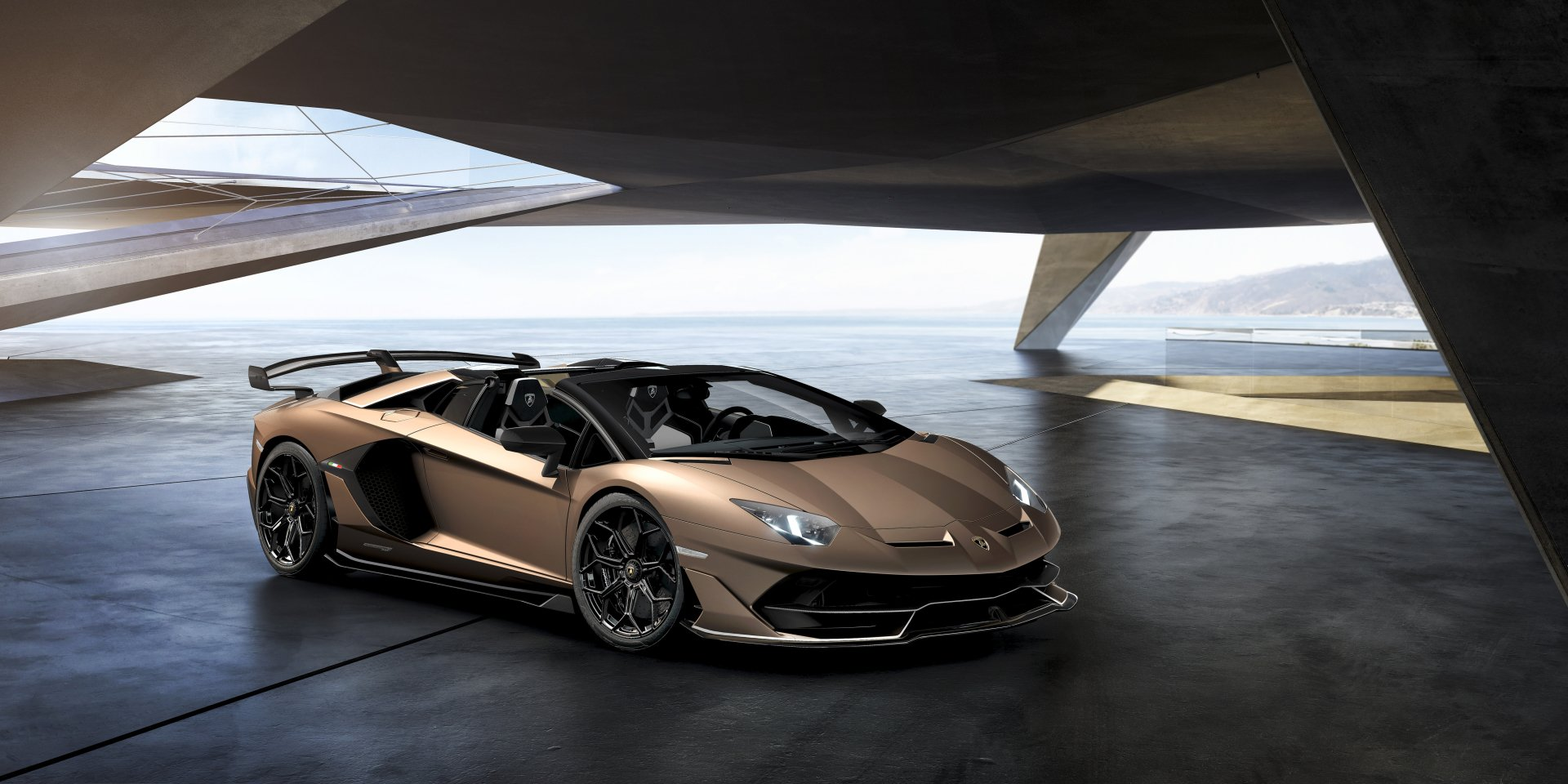 Lamborghini Aventador Brown Wallpaper