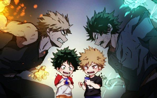 Anime My Hero Academia Katsuki Bakugou Izuku Midoriya HD Wallpaper | Background Image