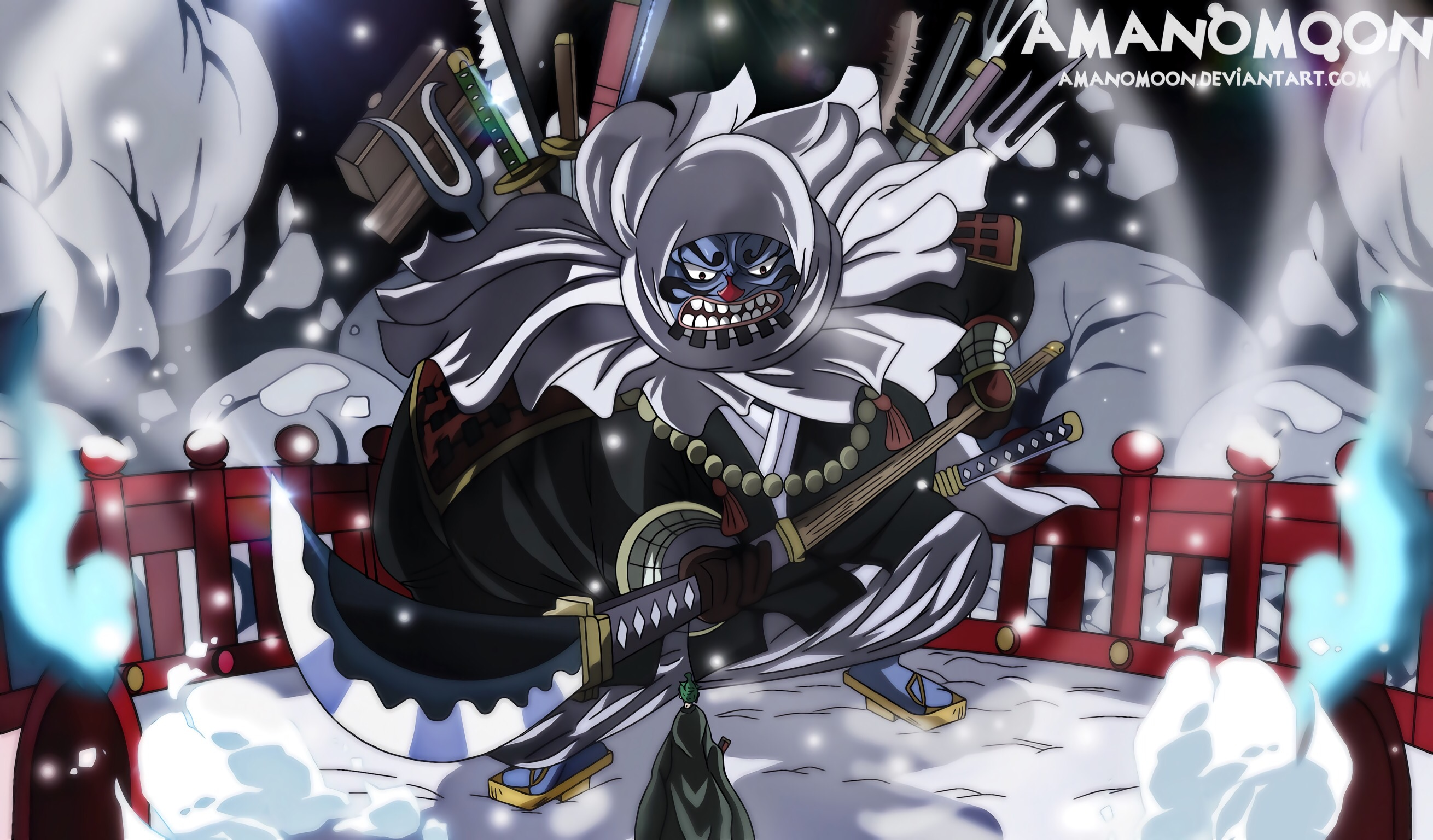 Zoro Vs Sword Collector Wano Hd Wallpaper Background Image