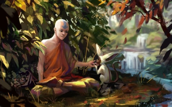 Anime Avatar: The Last Airbender Avatar (Anime) Aang Momo HD Wallpaper   Background Image
