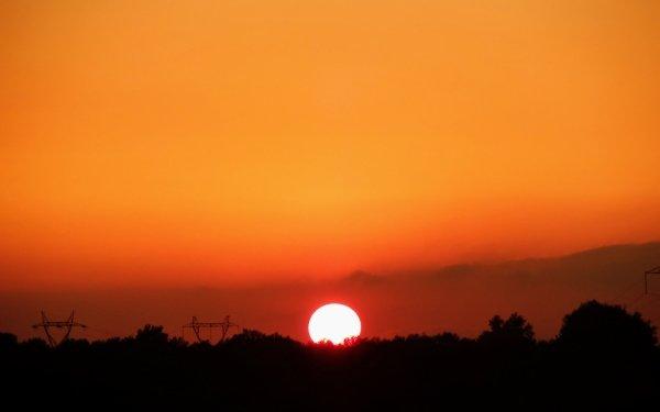 Earth Sunset Sun orange Sky Nature Algeria Africa HD Wallpaper | Background Image